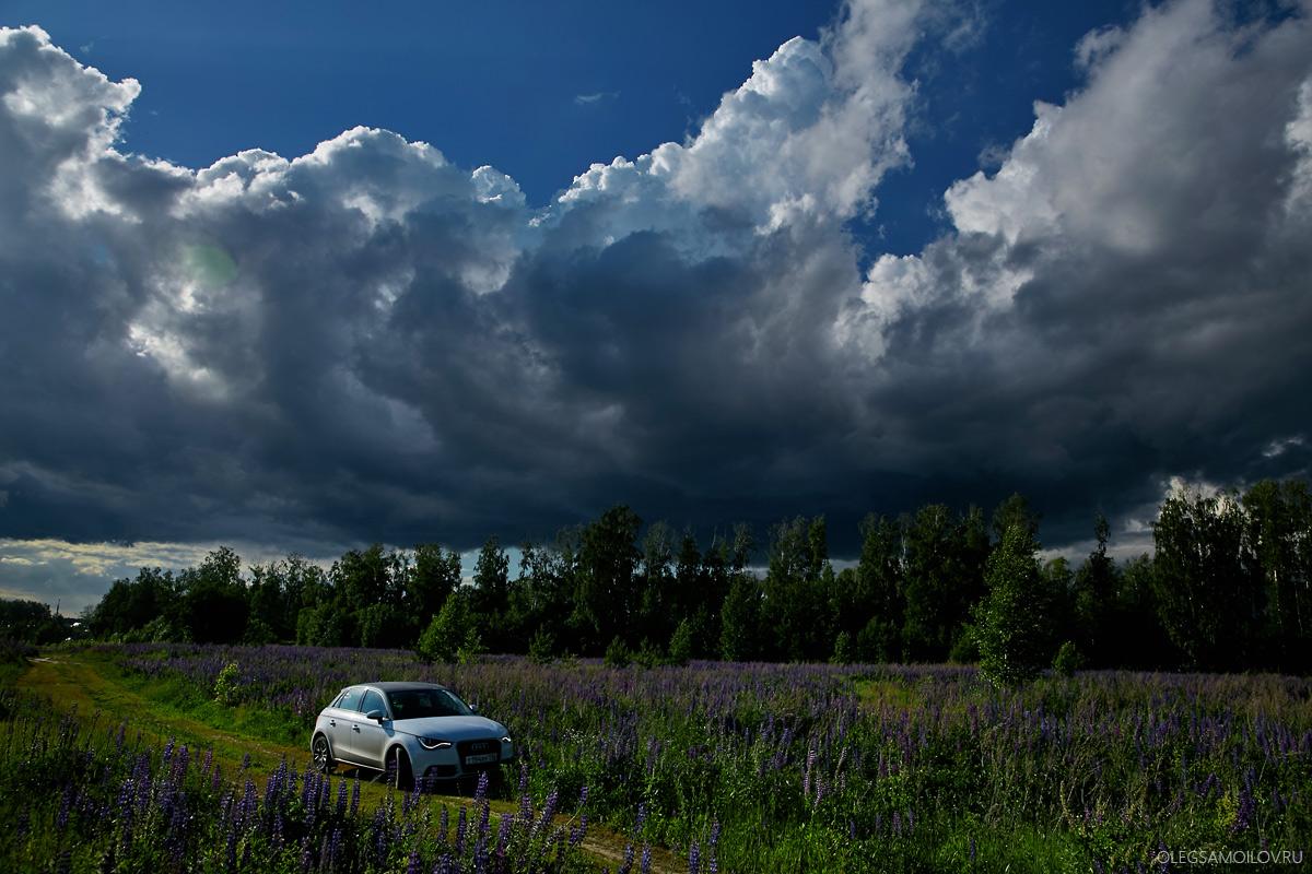 Audi a1 в полях этим летом