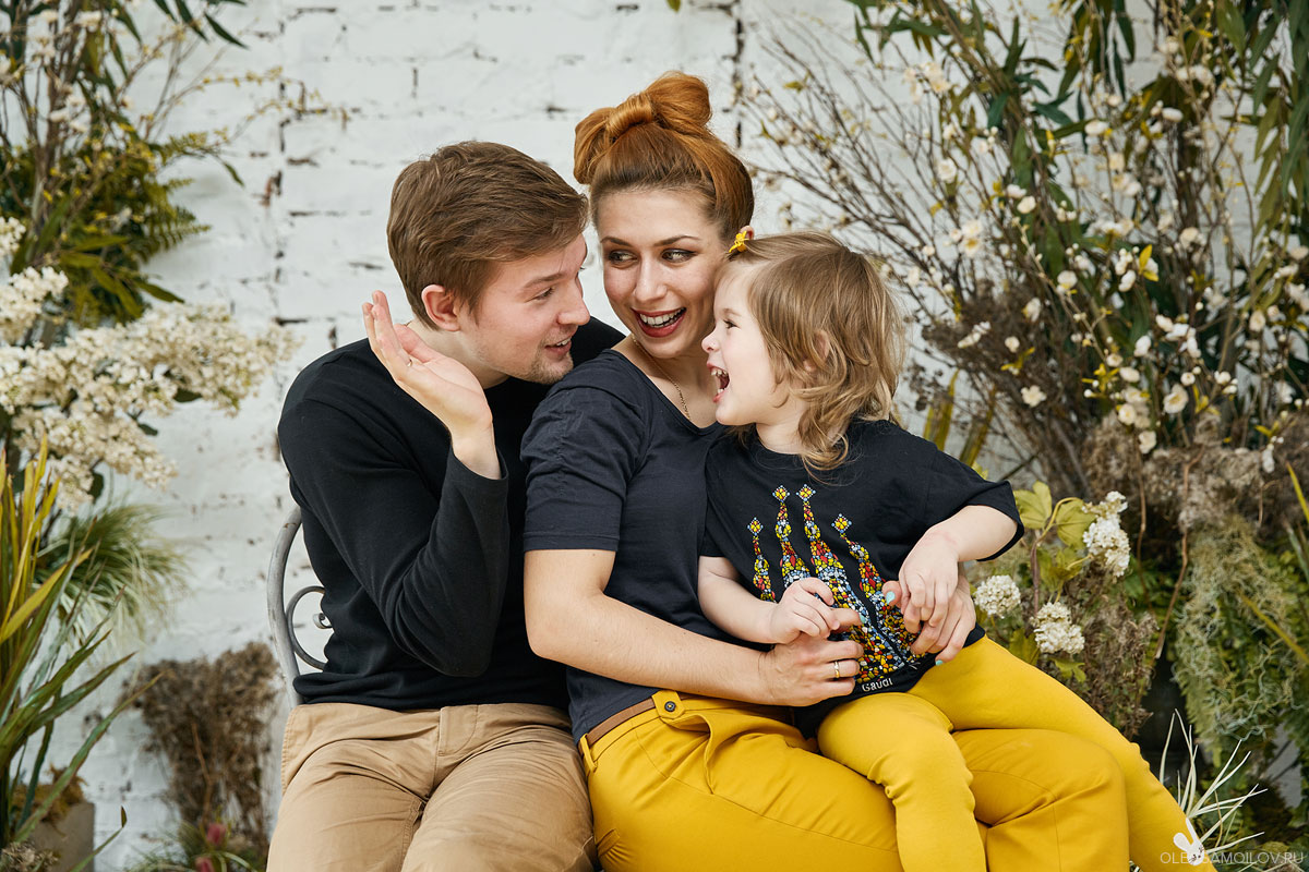 семейные фотосессии в студии от Олега Самойлова, Казань