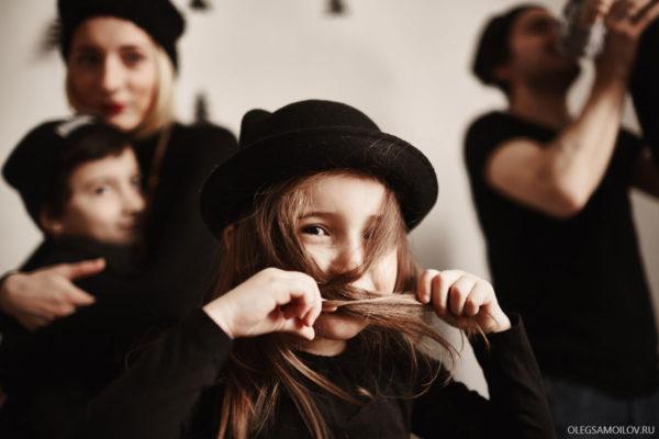 семейная фотосессия в студии - Казань